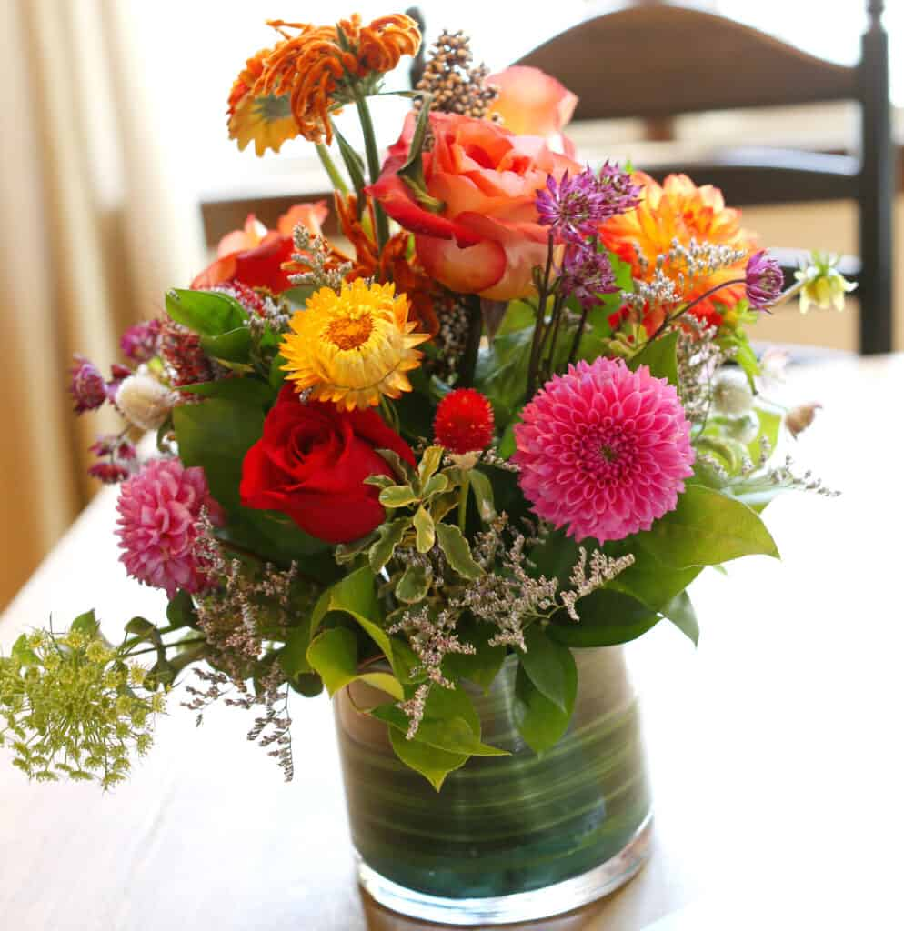 fresh flowers on a table